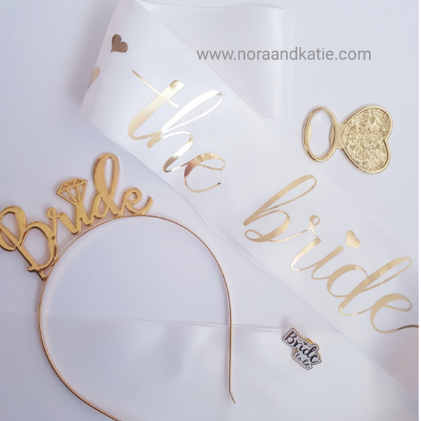 Gold and white Bride set