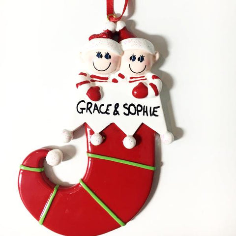 Personalised Christmas Stocking - Christmas Tree Decoration