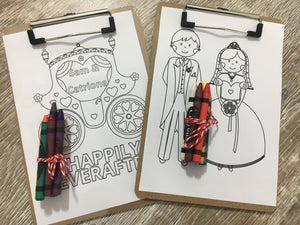 Wedding Colouring Boards