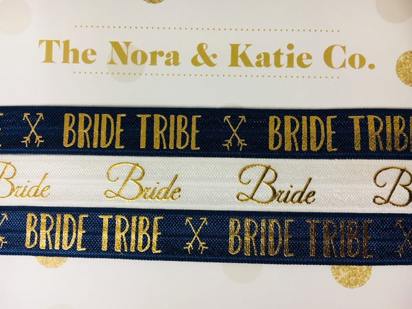 Bride Tribe Chokers - Navy & Metallic Gold