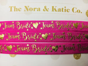 Team Bride Chokers - Hot Pink & Metallic Gold
