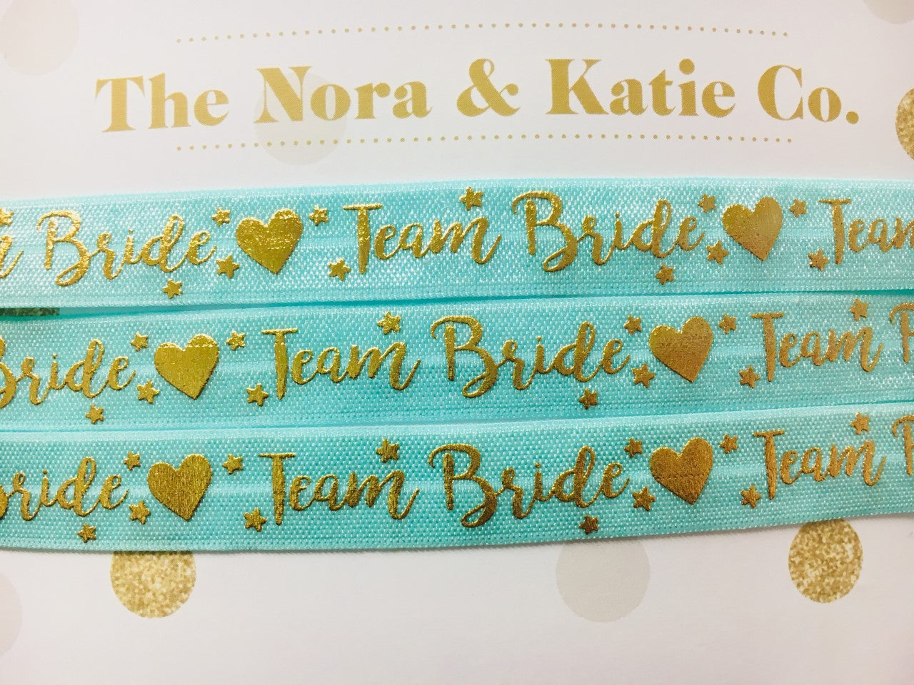 Team Bride Chokers - Turquoise & Metallic Gold