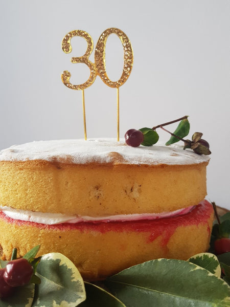 Gold 30 Birthday Cake Topper