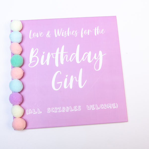Love & Wishes Scribble Book - Pom Pom Party