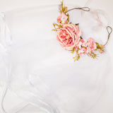 Bride Floral veil - Boho Hen Party gold
