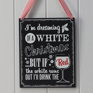 Christmas Wooden Chalkboard Wine Sign