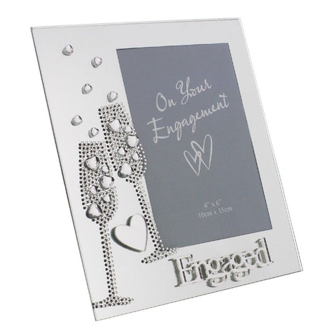 "Engagement Glass Photo Frame 4"" x 6"""