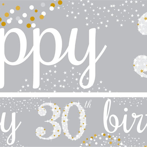30th Birthday Paper Banners 1 design 1m each - 3 pack