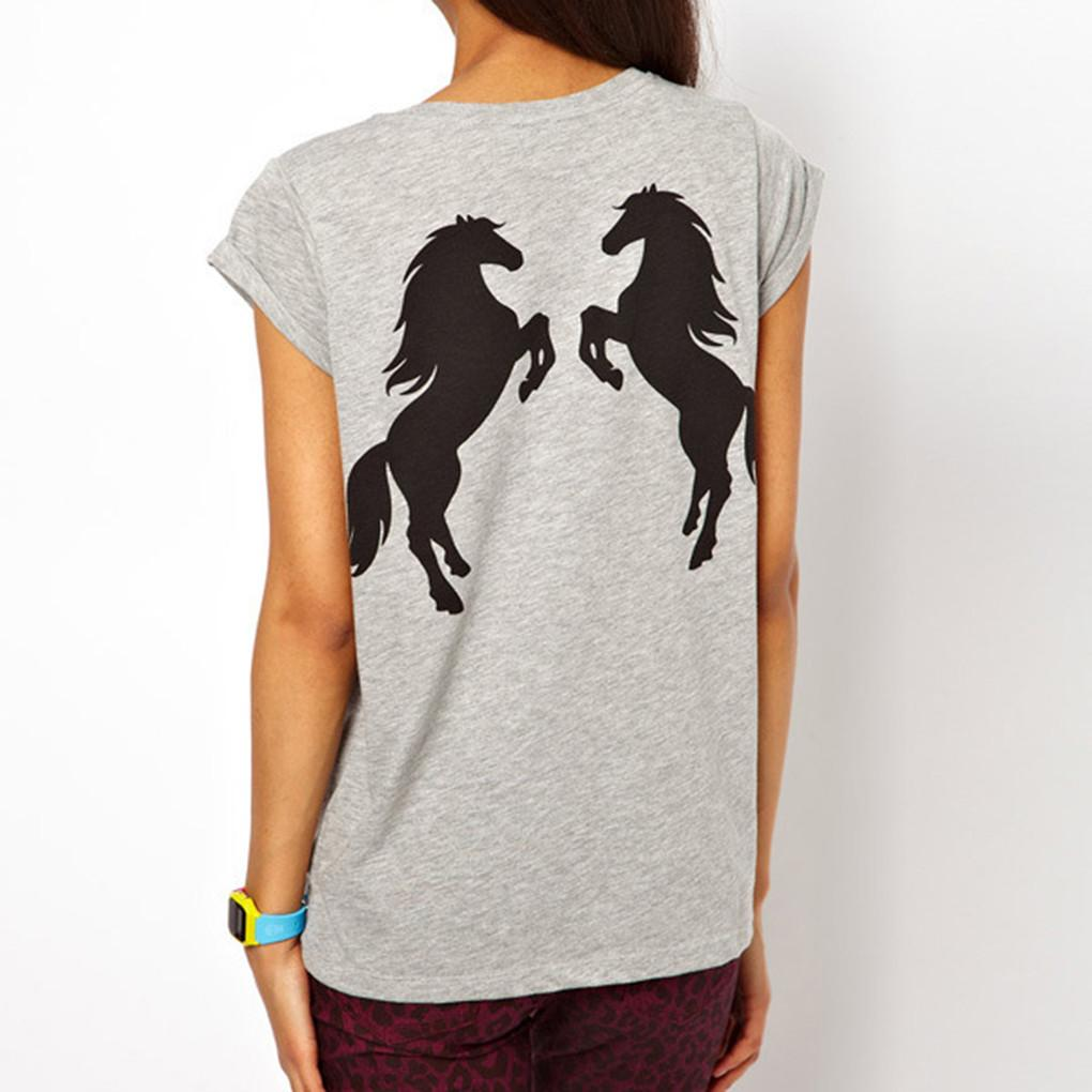 tee-shirt cheval cabre