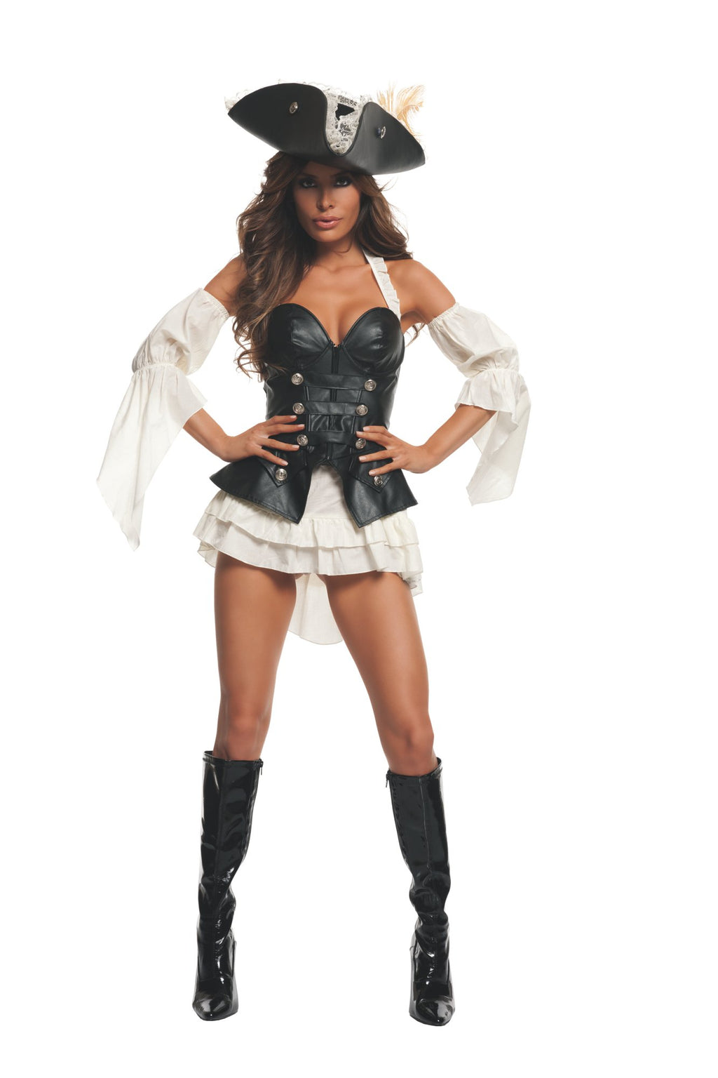 Starline Women's Black Pearl Pirate Costume Womens Adult Sized Costumes - Nastassy