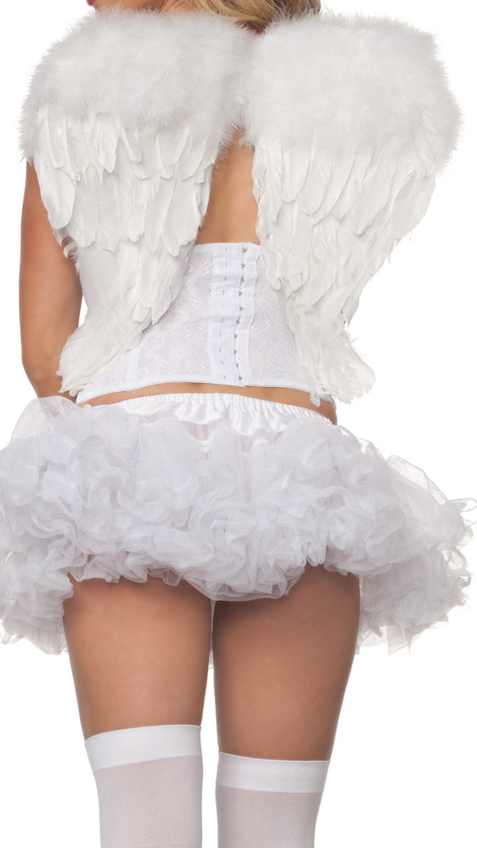 Party King Small White Angel Wings Costume Accessory Womens Costume Accessories - Nastassy