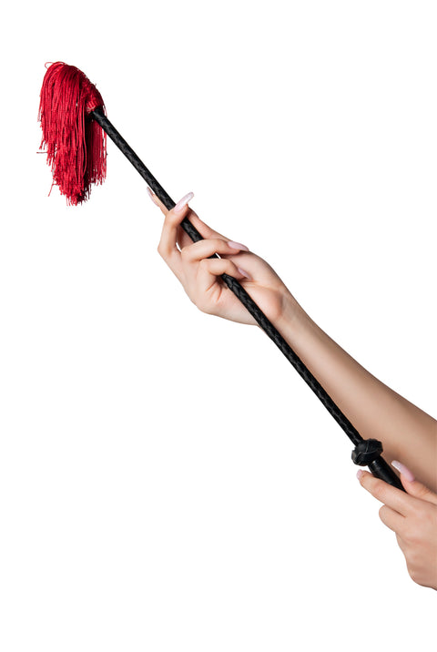Starline Women's Red Fringe Whip Riding Crop Costume Accessory Womens Costume Accessories - Nastassy