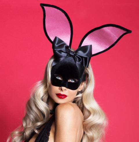 Starline Women's Playtime Bunny Velvet Mask Costume Accessory Womens Costume Masks - Nastassy