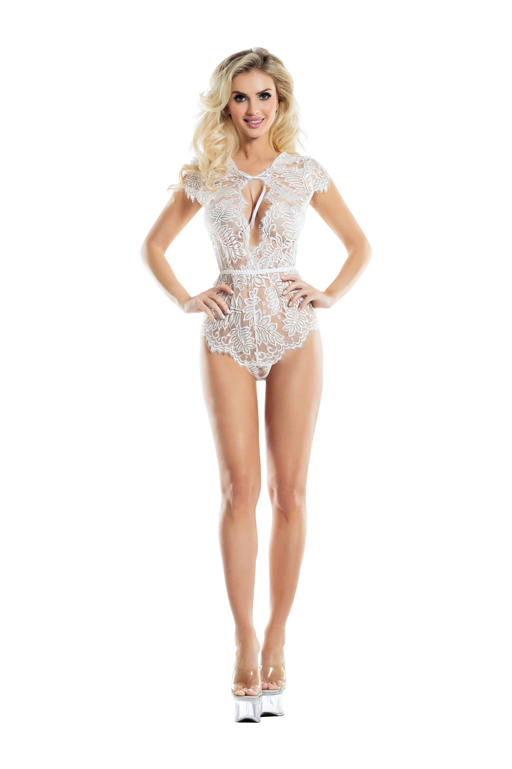 Raveware Ambrosia Fern Lace Teddy Womens Adult Exotic Lingerie Sets - Nastassy