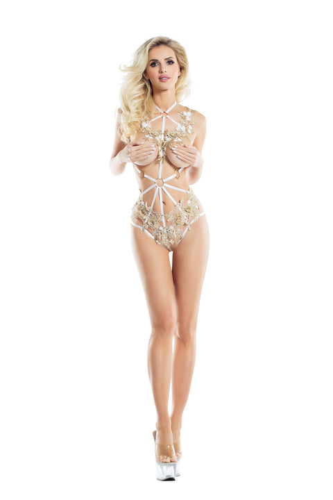 Raveware Ambrosia Versailles Cage Teddy Womens Adult Exotic Lingerie Sets - Nastassy