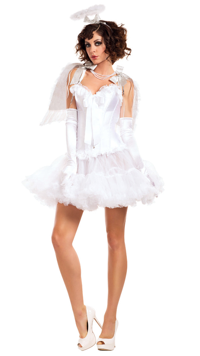 Party King Sweet Angel Costume Accessory Kit Womens Adult Sized Costumes - Nastassy