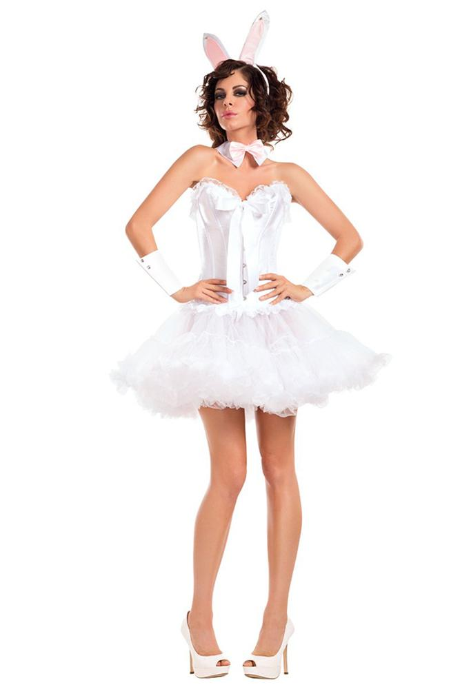 Party King White Bunny Costume Accessory Kit Womens Adult Sized Costumes - Nastassy