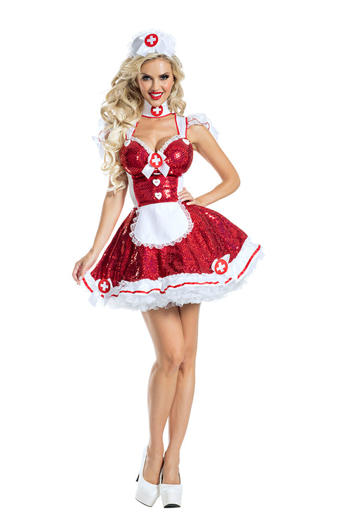 Party King Glam Nurse Costume Womens Adult Sized Costumes - Nastassy