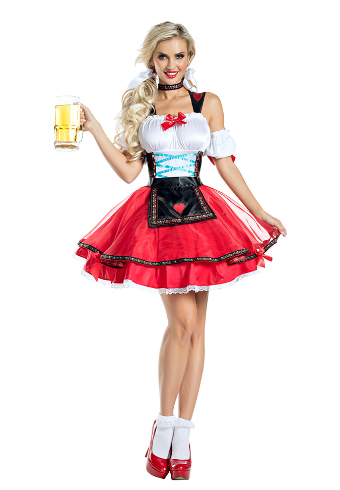 Party King Octoberfest Hottie Costume Womens Adult Sized Costumes - Nastassy