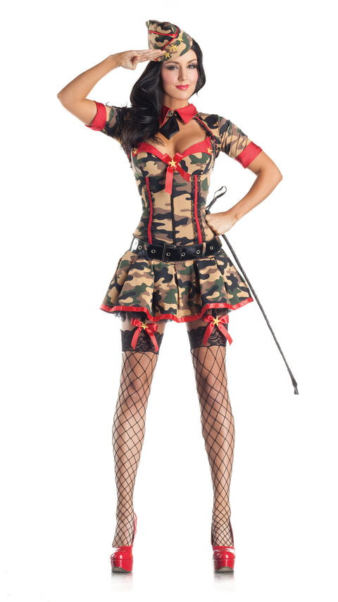 Party King Women's Army Brat Body Shaper Costume Womens Adult Sized Costumes - Nastassy
