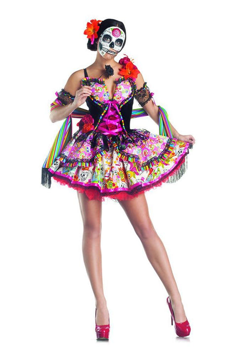 Party King Women's Day Of The Dead Costume Womens Adult Sized Costumes - Nastassy