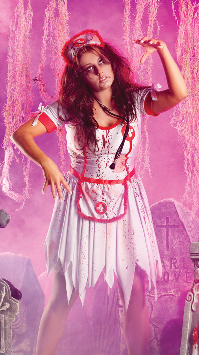 Party King Plus Size Nurse Zombie Costume Womens Adult Sized Costumes - Nastassy
