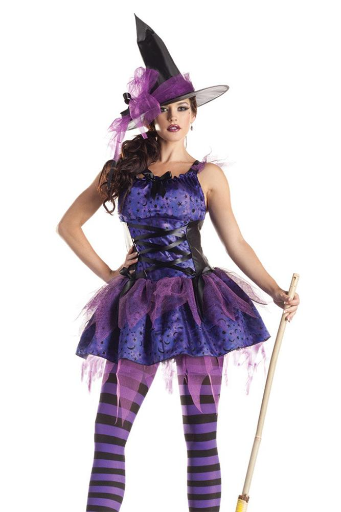 Party King Starry Night Witch Costume Womens Adult Sized Costumes - Nastassy