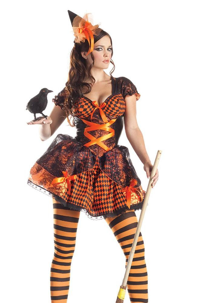 Party King Victorian Witch Womens Adult Sized Costumes - Nastassy