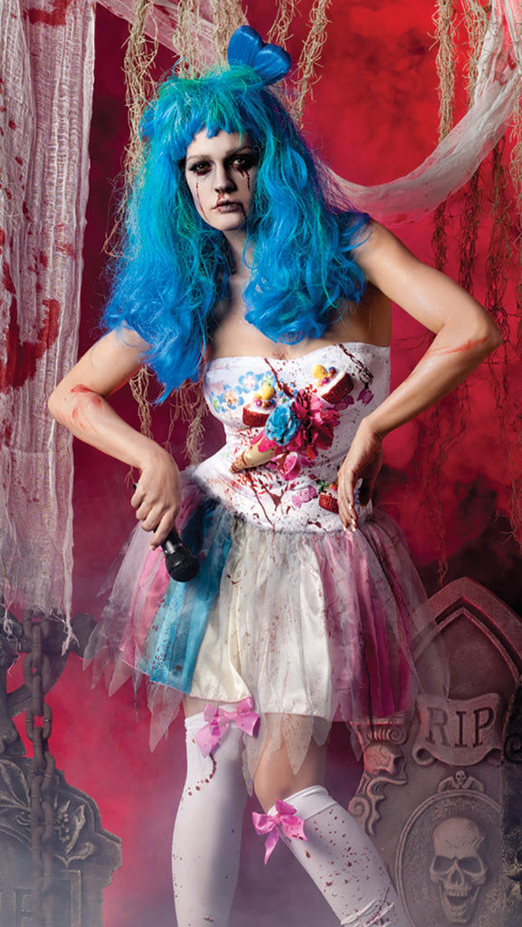 Party King Zombie Candy Girl Costume Womens Adult Sized Costumes - Nastassy
