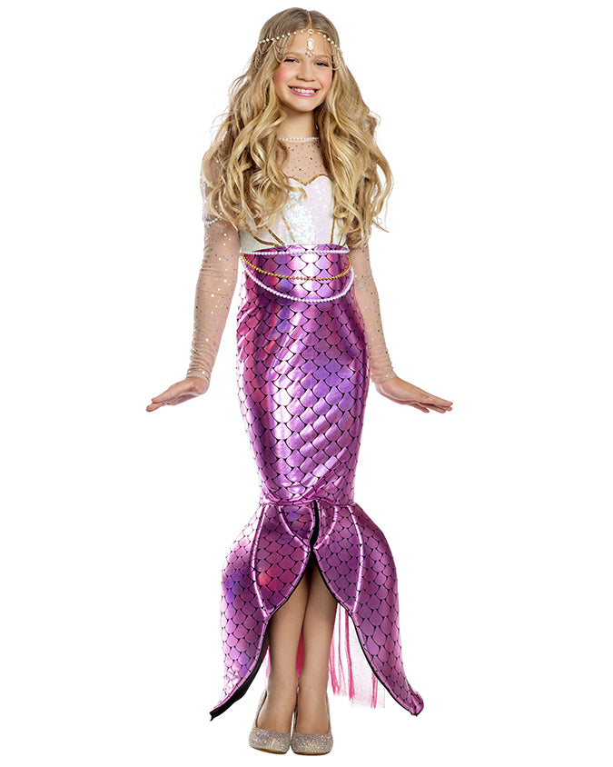 Party King Girls Blushing Beauty Mermaid Costume Childrens Costumes - Nastassy