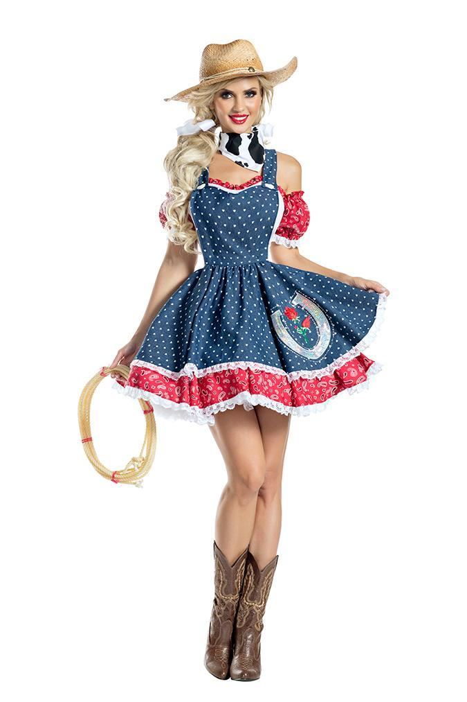 Party King Howdy Hottie Costume Womens Adult Sized Costumes - Nastassy