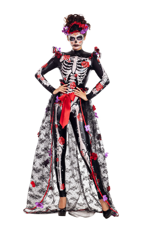 Party King Rosas Day of the Dead Costume  - Nastassy