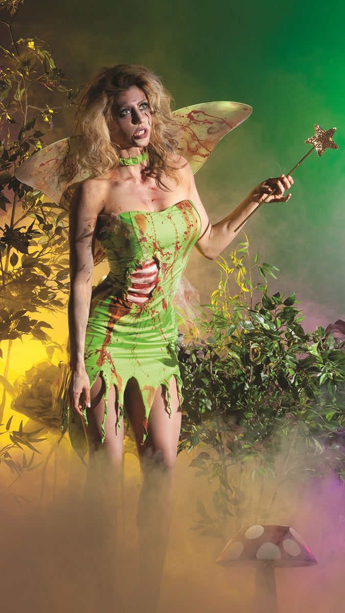 Party King Pixie Zombie Costume Womens Adult Sized Costumes - Nastassy