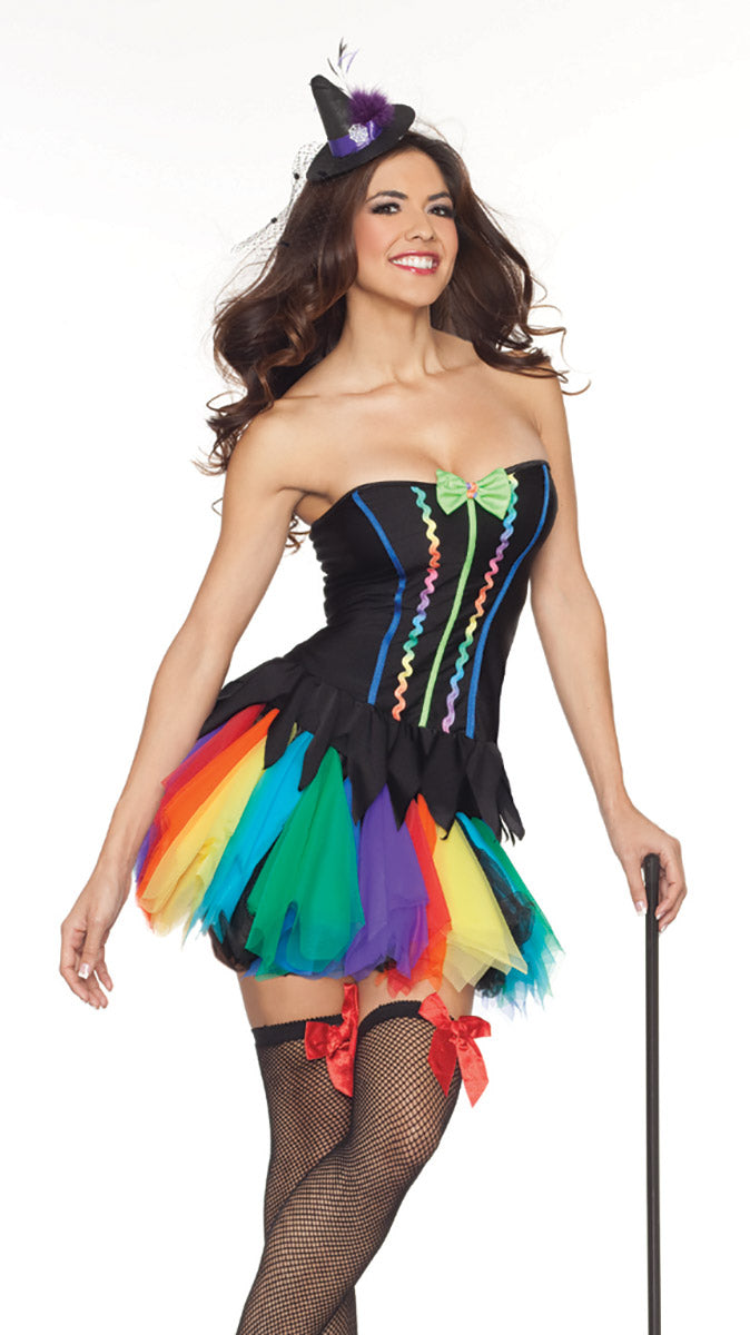 Party King Rainbow Witch Costume Womens Adult Sized Costumes - Nastassy