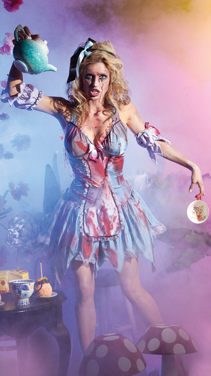 Party King Looking Glass Zombie Costume Womens Adult Sized Costumes - Nastassy