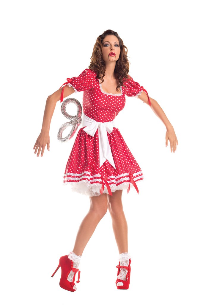 Party King Women's Wind Up Doll Costume Womens Adult Sized Costumes - Nastassy