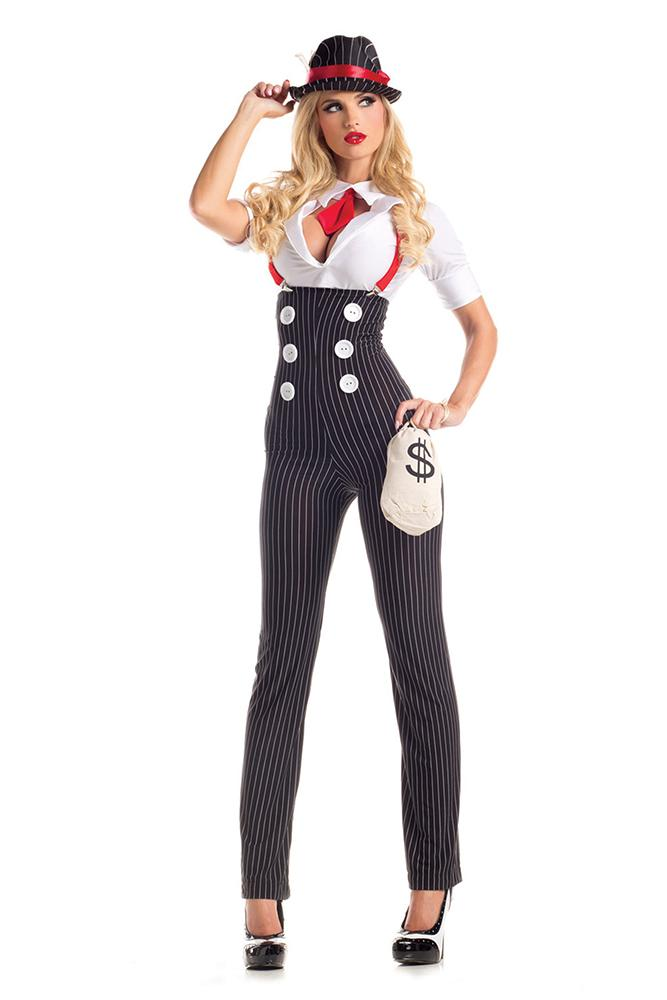 Party King Women's Heist Hottie Costume Womens Adult Sized Costumes - Nastassy