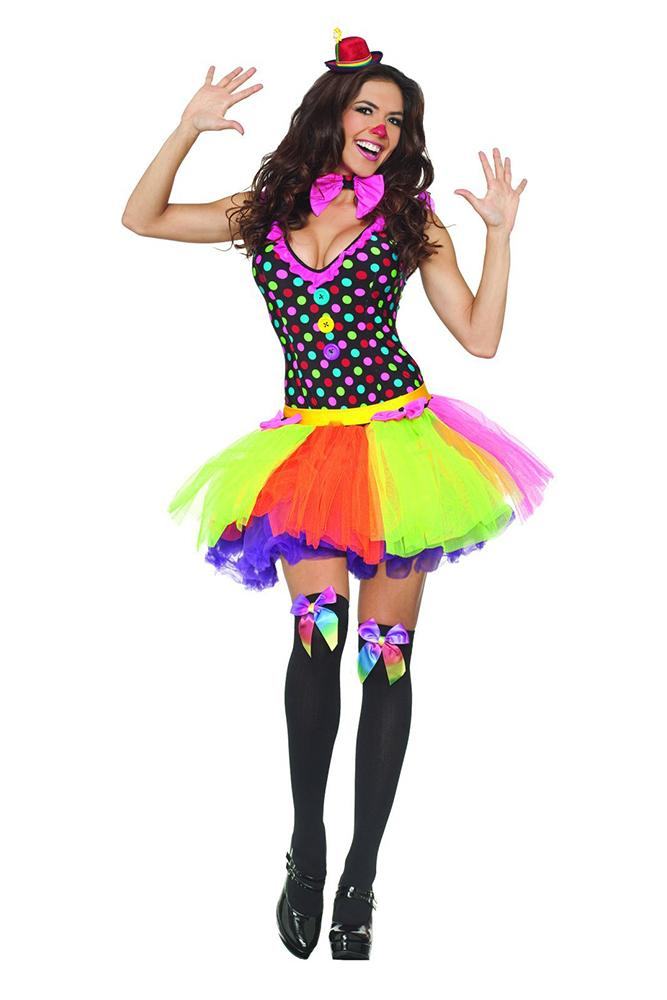 Party King Women's Clowning Around Costume Womens Adult Sized Costumes - Nastassy