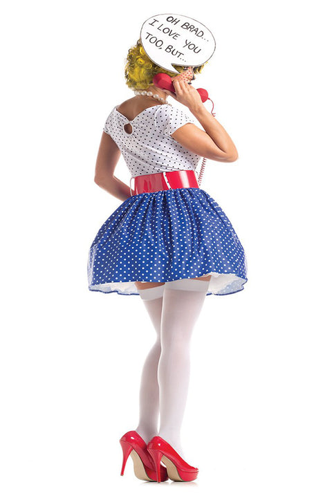 Party King Pop Art Cutie Costume Womens Adult Sized Costumes - Nastassy
