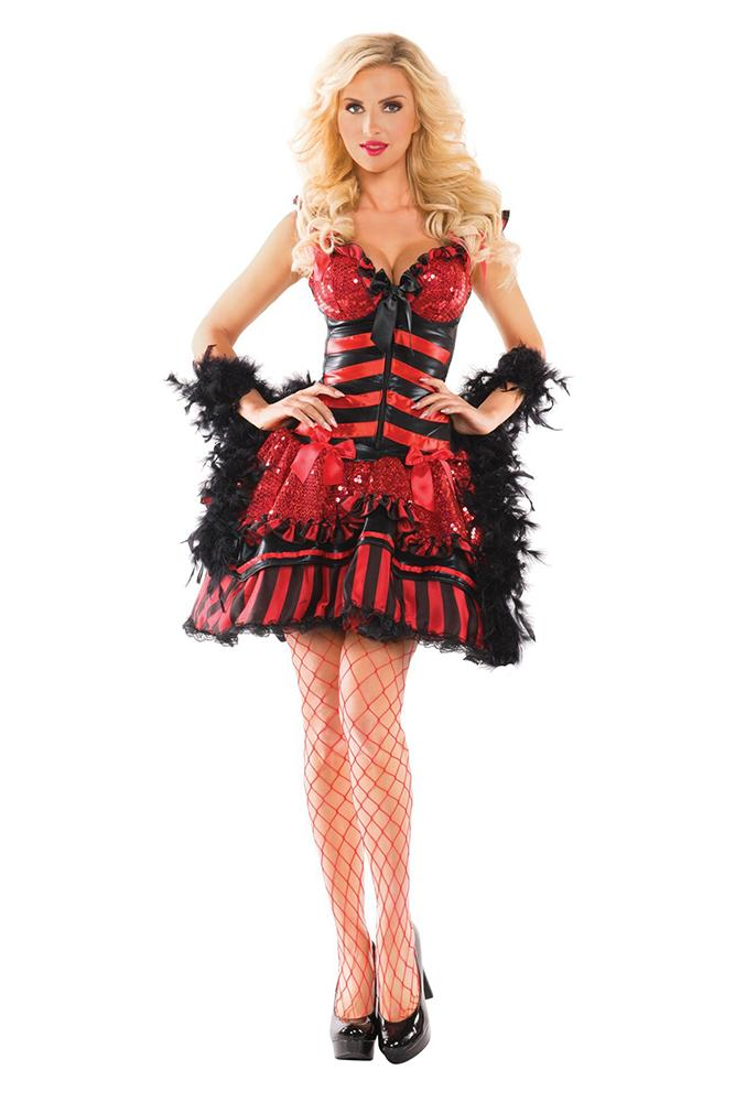 Party King Women's Burlesque Babe Shaper Costume Costume Womens Adult Sized Costumes - Nastassy