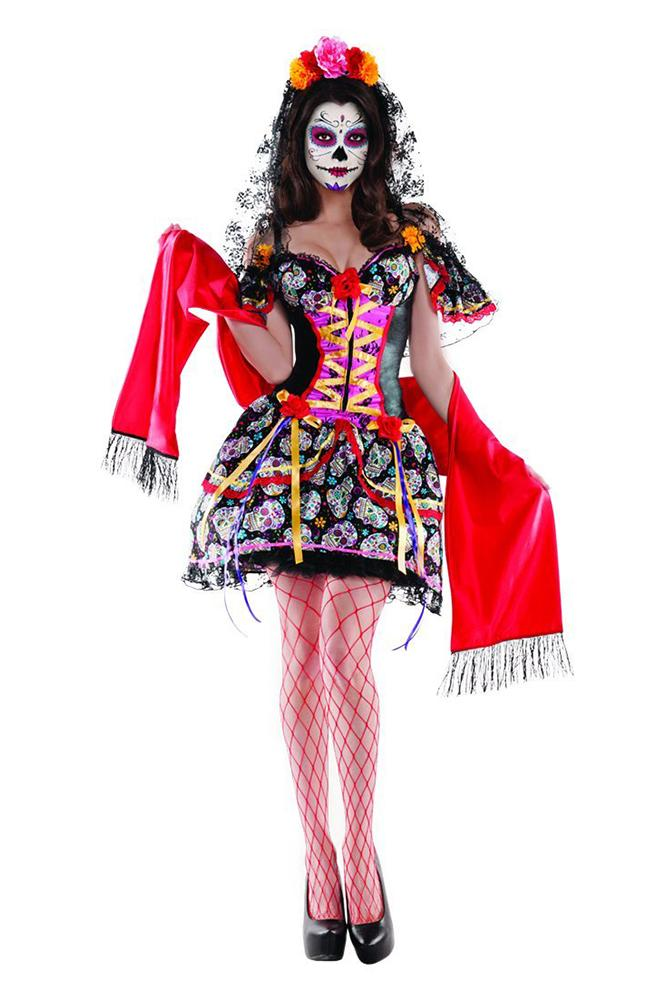 Party King Women's La Catrina Shaper Costume Costume Womens Adult Sized Costumes - Nastassy