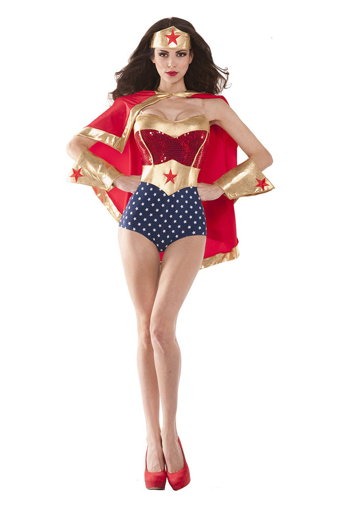 Party King Women's Wonderful Babe Costume Womens Adult Sized Costumes - Nastassy