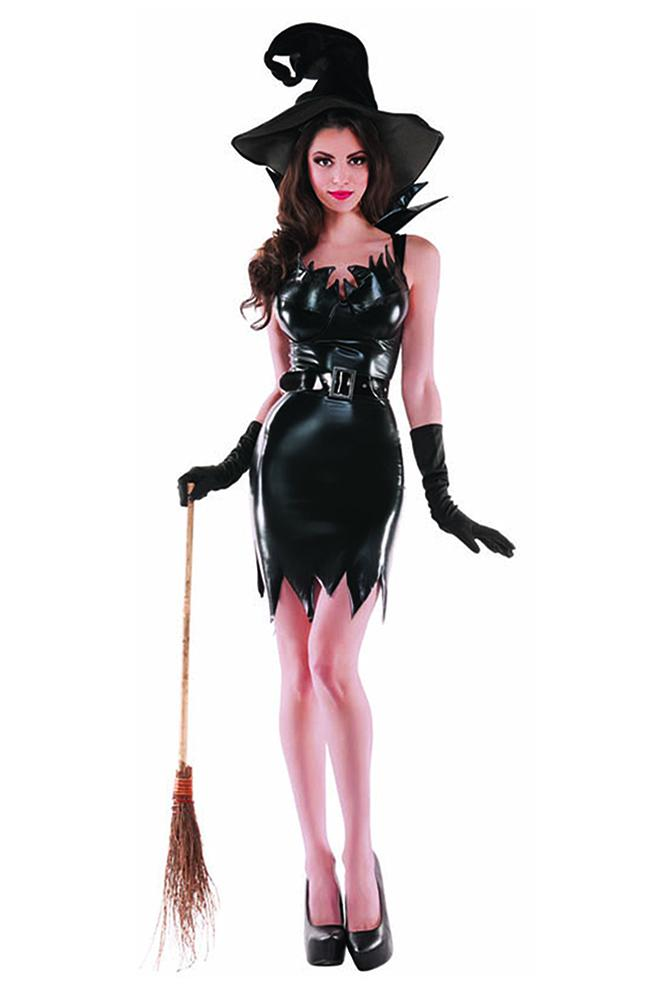 Party King Women's Liquid Black Witch Costume Womens Adult Sized Costumes - Nastassy