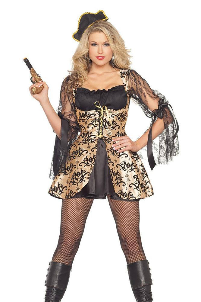Party King Pirate Wench Costume Womens Adult Sized Costumes - Nastassy