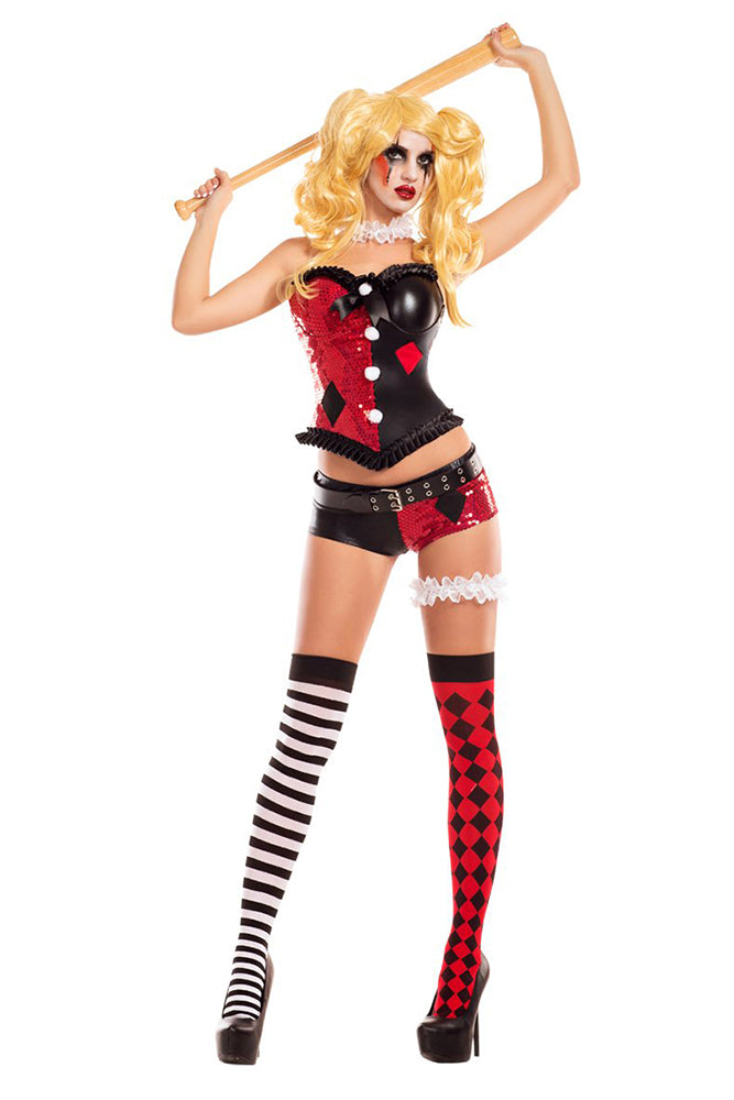 Party King Women's No Good Harlequin Costume Womens Adult Sized Costumes - Nastassy