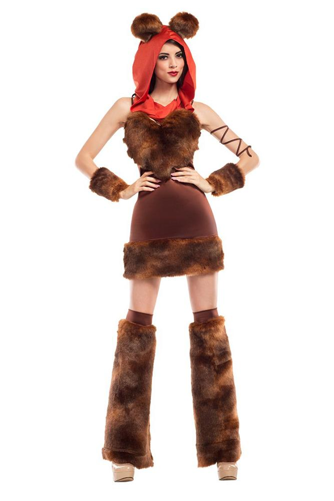 Party King Women's Cute Furry Space Creature Costume Womens Adult Sized Costumes - Nastassy