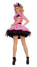 Party King Women's Pink Mouse Costume Womens Adult Sized Costumes - Nastassy