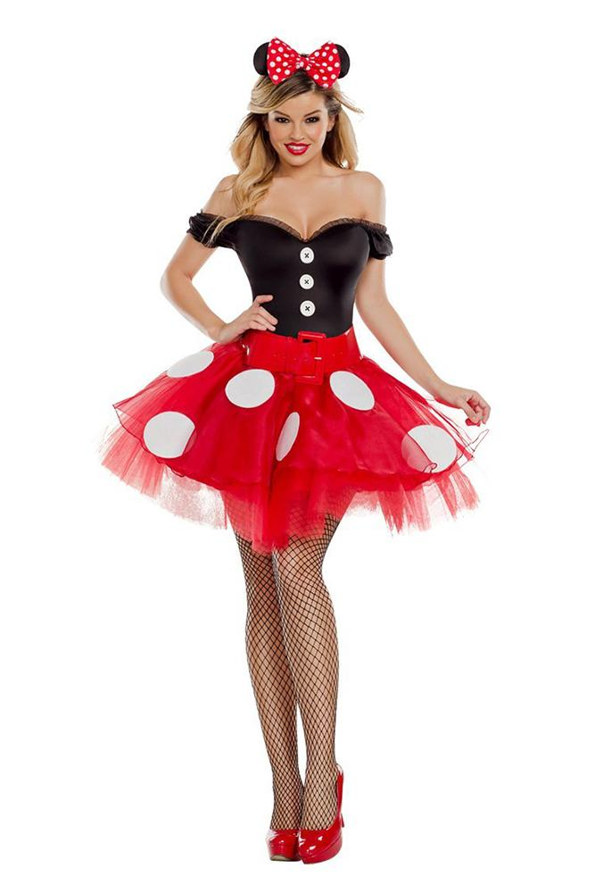 Party King Women's Coquette Mouse Costume Womens Adult Sized Costumes - Nastassy