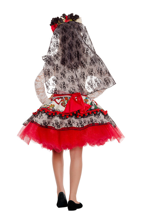 Party King La Novia Day of the Dead Childrens Costume Girls Childrens Costumes - Nastassy