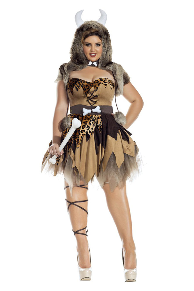 Party King Plus Size Prehistoric Honey Womens Costume Womens Adult Sized Costumes - Nastassy
